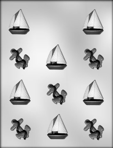 CK Products Anchor and Sail Boat Chocolate Mold