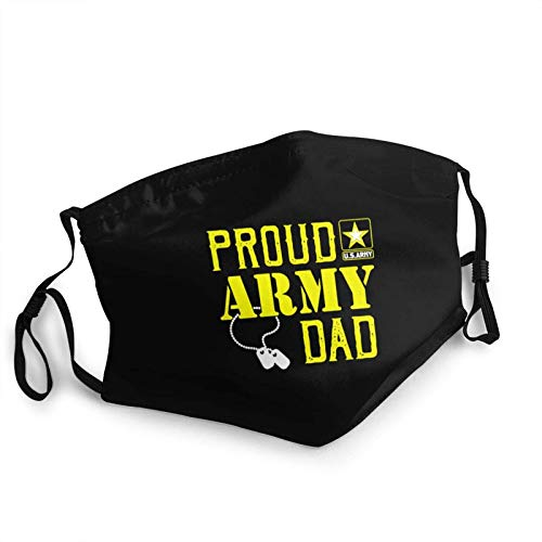 Adult Kids Reusable Face Mask Proud Army Dad Military Pride Anti Dust & Washable Face Mask