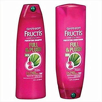 Garnier Fructis Full and Plush Shampoo and Conditioner Bundle - Net Wt. 13 Fl Oz (384 Ml) Each...