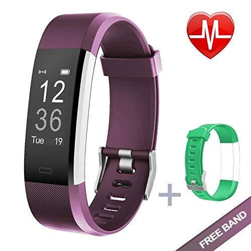 KG Physio Fitness Tracker HR Plus Monitoraggio del Battito Cardiaco, monitoraggio dell' attività Fisica i e la App VeryFit PRO Disponibile in Sei Lingue! Compatibile con iPhone e Android