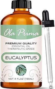 Ola Prima 4oz - Premium Quality Eucalyptus Essential Oil  4 Ounce Bottle  Therapeutic Grade Eucalyptus Oil