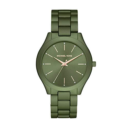 Michael Kors Women's Quartz Watch with Metal Strap, Green, 20 (Model: MK4526)