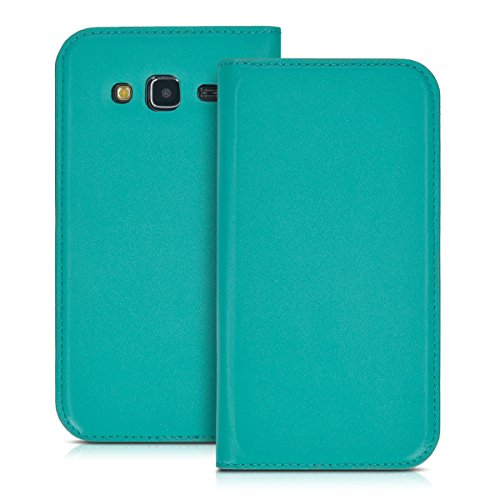 kwmobile Funda Compatible con Samsung Galaxy J5 (2015) - Carcasa con Tapa Tipo Libro - Case Protector en petróleo