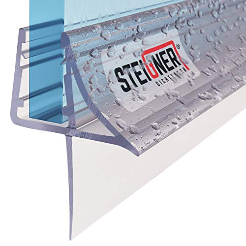 STEIGNER Duschdichtung, 90cm, Glasstärke 6/7/ 8 mm, Gerade PVC Ersatzdichtung für Dusche, UK09