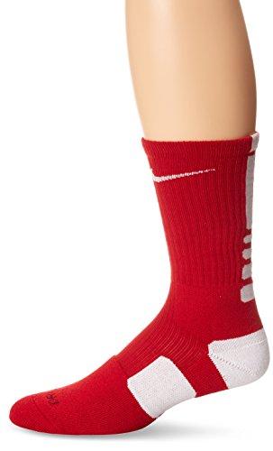 The Nike Elite Basketball Crew Socks Varsity Red/White Size Large