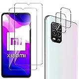 QULLOO Panzerglas Schutzfolie für Xiaomi Mi 10 Lite 5G [2 Stück] + Kamera Panzerglas [2 Stück],9H Festigkeit Anti-Kratzen Panzerglasfolie für Xiaomi Mi 10 Lite 5G