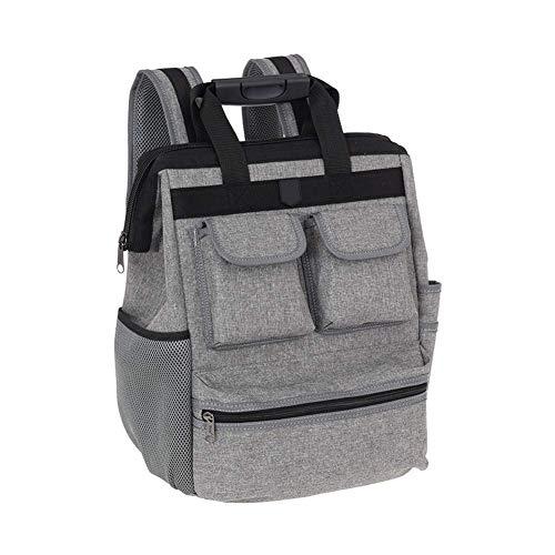 Professional Electrican Tool Backpack,Tradesman Tool Bag Organizer,Large Tools & Long Screwdrivers Tote Bag,Waterproof Heavy Duty Tool Backpack For Contractor,HVAC,Plumber,Carpenters (Grey)