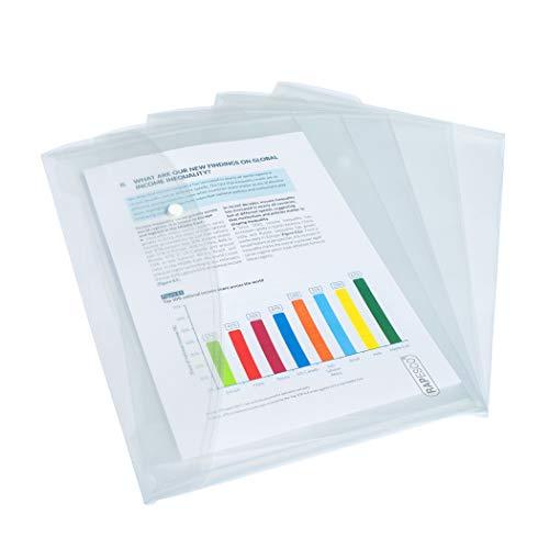 Rapesco 0695 Carpeta Portafolios A4+ Horizontal, Pack de 5, Transparente