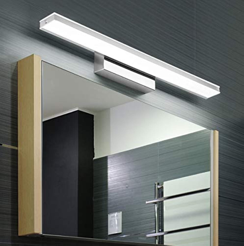 LeiLight Badezimmer-WandleuchteLED Vanity Lampe Badezimmer Ligh Make Up Wandleuchten Edelstahl Spiegel Front Vanity Lampe für Bad Schlafzimmer Beleuchtung,coolWeißlight