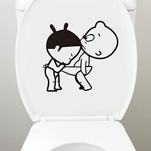 BLOUR Schöne Toilettenaufkleber wasserdichte Abziehbilder für abnehmbare Badezimmeraufkleber Home Decor Art Wallpaper Wandbild WC Closestool