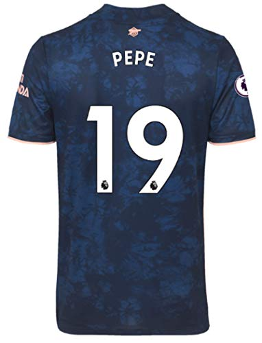 Jertinhf 2020-2021 Men's Third Soccer Jersey/Short Colour Navy (Arsenal Pépé #19 (M))
