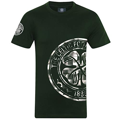 Celtic FC Official Football Gift Mens Graphic T-Shirt Green XL