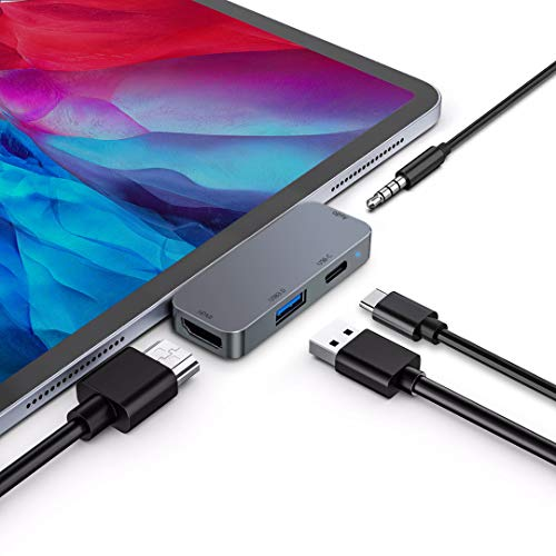 Adaptador USB C HUB para iPad Pro 11/12.9 2020/2018, iPad Air 4,...
