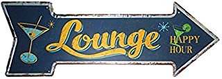 dingleiever-Lounge Happy Hour Classic Irregular Arrow Iron Poster Wall Pictures for Beer bar