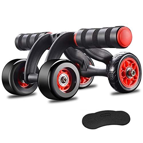 Conemmo Automatische Rebound Abdominal Rad Triple-Power Wheels for die Beste Bauchtraining und Core Fitnesstraining Bauchtrainer for Gym, Keep Fit, Männer, Frauen