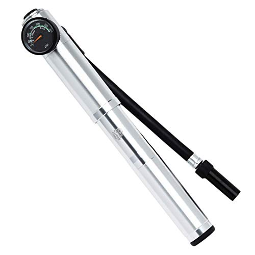 Outdoor Berry High Pressure Shock Pump - Portable Mountain Bike Pump Used to Inflate Front Fork & Rear Shocks Air Suspensions Up to 300 PSI - MTB Shock Pump Fits Presta and Schrader Valves