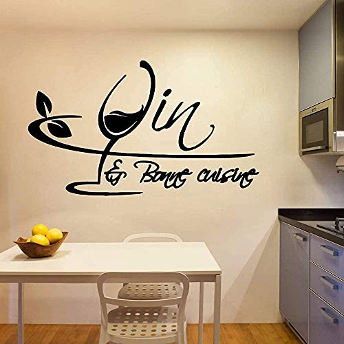 Wandaufkleber Kunstaufkleber und Wandbilder Interieur Cartoon Weinglas Küche Zimmer Personalzimmer 56x94 cm