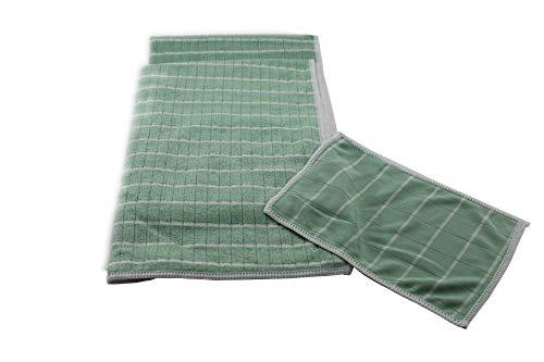 Aqua Clean Bambus-Kristall Geschirrtücher 2er Plus Optik-/Smartphone-Reinigungstuch