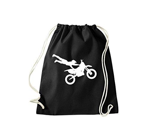 Unbekannt Turnbeutel Motocross Enduro Motorradsport Jumper Gymsack Kultsack schwarz