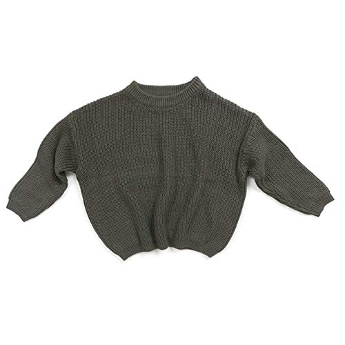 HWTOP Pullover Neugeborene Kinder Baby Mädchen Strickpullover Langarm Pulli Langarmshirts Knit Sweater Tops, Army Grün, 2-3 Jahre