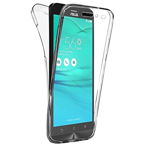 """Buyus® Custodia Full Body ASUS Zenfone 3 Go ZB552KL (5,5""""), Protezione a 360°, Morbido TPU Case Cover Ultra Sottile, Resistente Ai Graffi - Transparente"""