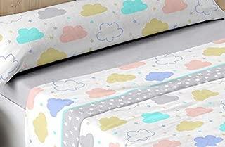 T&R Juego Sabanas Coralina Dorvel 750 Nubes Cama 105