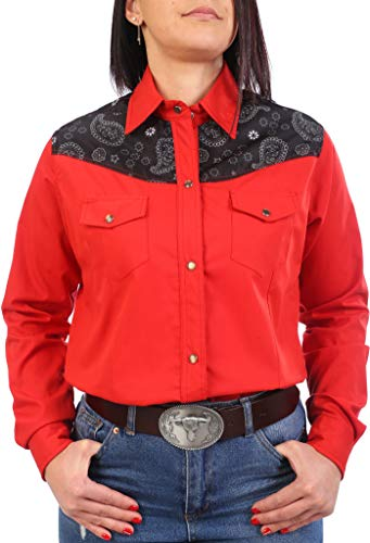 Last Rebels Country Line Dance - Camisa para mujer, color rojo rojo Medium
