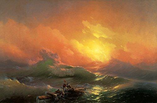 Das Museum Outlet–Konstantinowitsch Aiwasowski, Iwan–Die Neunte Welle, gespannte Leinwand Galerie verpackt. 50,8x 71,1cm