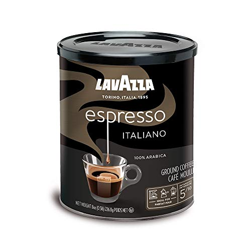 Lavazza Espresso Italiano Ground Coffee Blend, Medium Roast, 8-Ounce Cans (Pack of 6) (Packaging may vary)