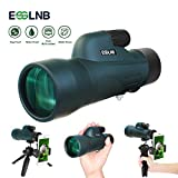ESSLNB Monocular 12x50 BAK4 Monocular Telescope with Smartphone Adapter IPX7 Waterproof Monoculars for Adults with Tripod and Carrying Bag