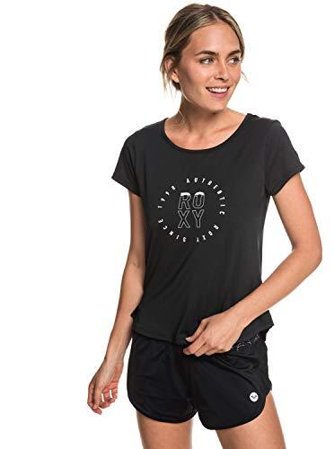 Roxy - Camiseta Deportiva - Mujer - S - Negro