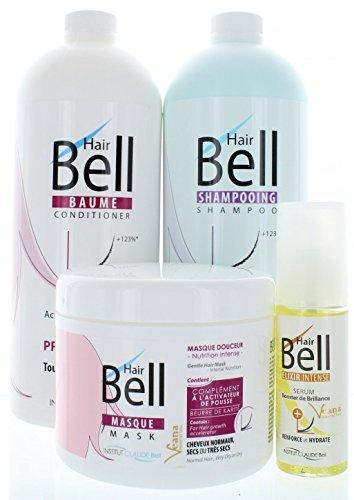 HairBell Shampoo + Conditioner + Maske + Booster Serum PRO wie HairJazz/HairPlus