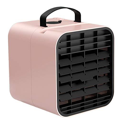 Mini Ventilador De Mano, Ventilador USB, Ventilador De Escritorio, Ventilador Portátil,3 Velocidades De Viento, Escritorio para El Hogar, La Oficina Y La Habitación (Color : Pink)