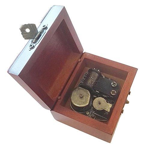 18Note Wind-up de madera caja de música, música de encaje antiguo caja de regalo, siempre con Me de El viaje de Chihiro caja de música