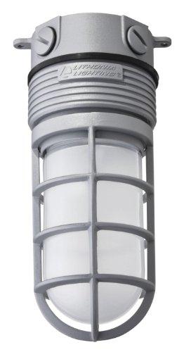 Lithonia Lighting OLVTCM M6 LED Ceiling Mount LED Vapor Light, 4000k,15 watts, 600 Lumens, 120 volts, Gray
