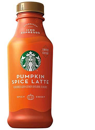 Starbucks Iced Latte, Limited Edition Pumpkin Spice, 14oz, 12 Bottles