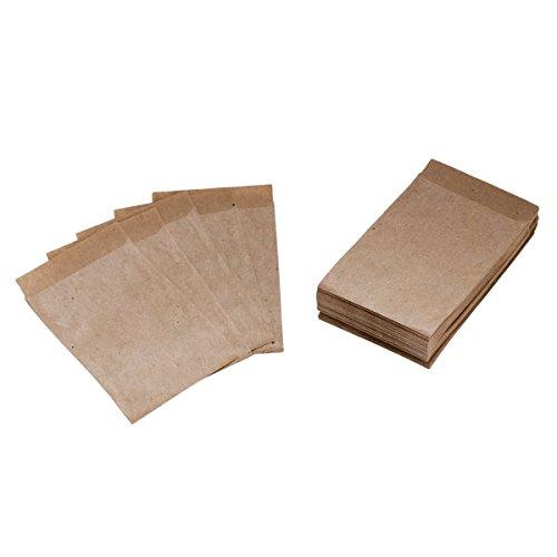 50 x Mini Flachbeutel KRAFTPAPIER Freudentränen Tüten 6,3 x 9,3 cm - Mini Papier Gastgeschenk Taschentücher Blumensamen Samentüten