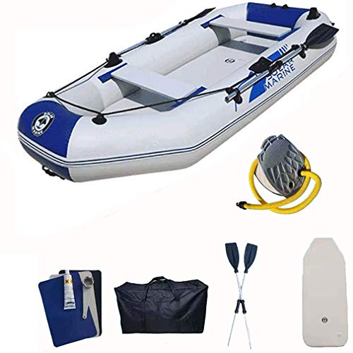 Zixin Jugend Riot Kayaks und aufblasbare Kanus mit Paddeln, for Schwimmbad Beach Play, Weiß blau, 330 * 140 cm