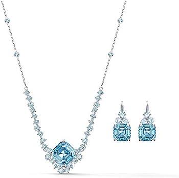 Swarovski Sparkling Set Aqua Rhodium Silver