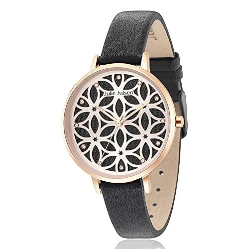 Julie Julsen Reloj de pulsera de cuarzo para mujer Flower of Life en oro rosa con circonitas – JJW1235RGL-1