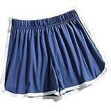 Pantalones Cortos Deportivos de Ejercicio para Mujer Cintura elástica cómoda Suelta Ocio Fitness Yoga Gimnasio XL