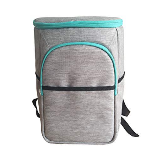 Phosphor Isolierter Gefrierschrank-Rucksack, auslaufsichere tragbare Gefriertasche, weicher Rucksack für Männer und Frauen, Gefrier-Mahlzeiten, Picknick, Angeln, Wandern, Camping, Park