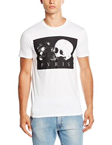 Plastic Head Herren PVRIS Skull Flowers T-Shirt, weiß, L