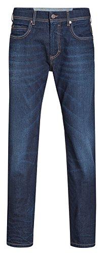 MAC Herren Jeans Ben Pipe Regular Fit Recycled Denim, Farbe:Dark Blue Authentic, Größe:W31/L34