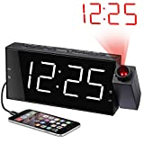 Best Projection Alarm Clocks - Projection Alarm Clock for Bedrooms, Digital Alarm Clock Review