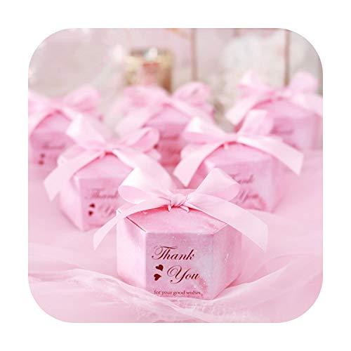 Geschenktasche, 50/100, Rosa, Sternenhimmel, sechseckig, Süßigkeiten, Schachteln für Hochzeit, Baby, Dusche, Geschenke, Geschenke, Schokodose, Weihnachtsdekoration