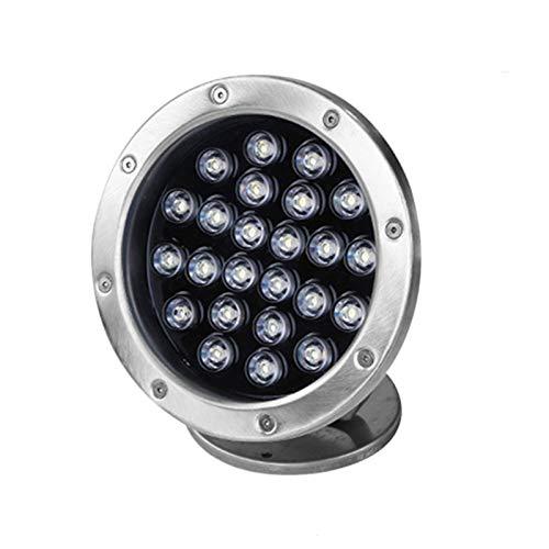 AWSAD Iluminación de la luz de la charca LED 36W con el Control Remoto, la luz subacuática Impermeable IP68, la luz Colorida del Paisaje (Color : with Remote Control, Size : 12v)