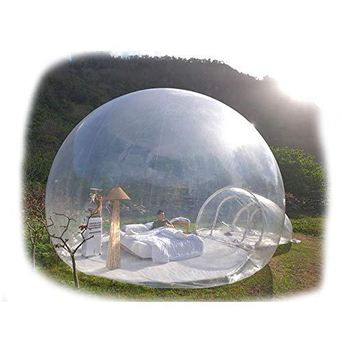 JASSXIN Tienda de campaña inflable para jardín, con burbujas, transparente, para exteriores, iglú, para camping, a New Way of Staying Igloo 360 Dome, diámetro 3 + 1,5 m Mtunnel