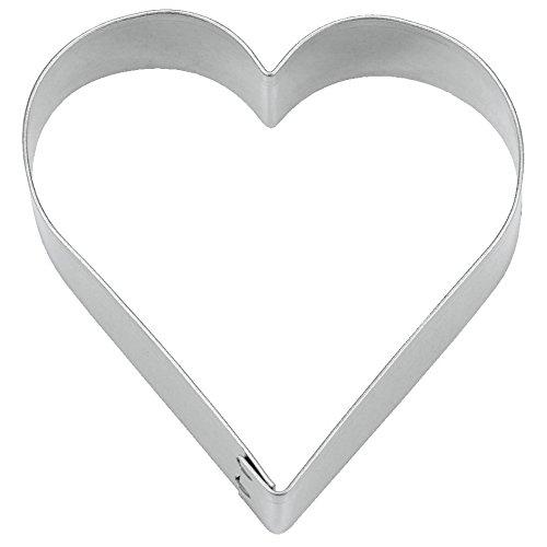 Städter Herz ø 18,0/3,0 cm hoch, Weißblech, Silber, 18 x 18 x 3 cm