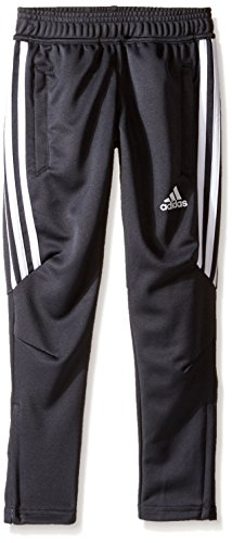 adidas Youth Soccer Tiro 17 Pants, X-Large - Dark Grey/White/White